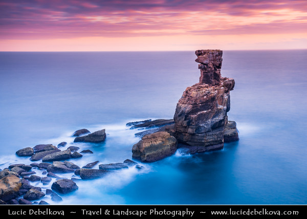 Europe - Portugal - Região Centro - Central Region - Peniche - Rocky peninsula on shores of North Atlantic - Cabo Carvoeiro - Cape of Coal - Nau dos Corvos - Rock Formation - One of Peniche's Landmarks