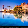 Europe - Portugal - Lisbon Surrounding - Estoril Coast - Cascais - Coastal resort - Santa Marta Lighthouse at Sunrise