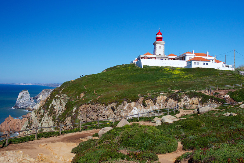 Cabo da Roca is the westermost spot in Portugal and in Europe.<br /> Copyright 2013, Tom Farmer