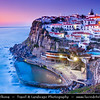 Europe - Portugal - Lisboa Region - Sintra-Cascais Natural Park - Azenhas do Mar - Belvedere built on cliffs that drop fearlessly to the ocean & Natural pools