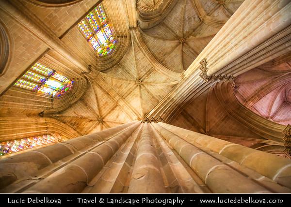 Europe - Portugal - Região Centro - Central Region - Batalha Monastery - Mosteiro Santa Maria da Vitória - UNESCO World Heritage Site - Dominican convent & One of the best and original examples of Late Gothic Portuguese architecture