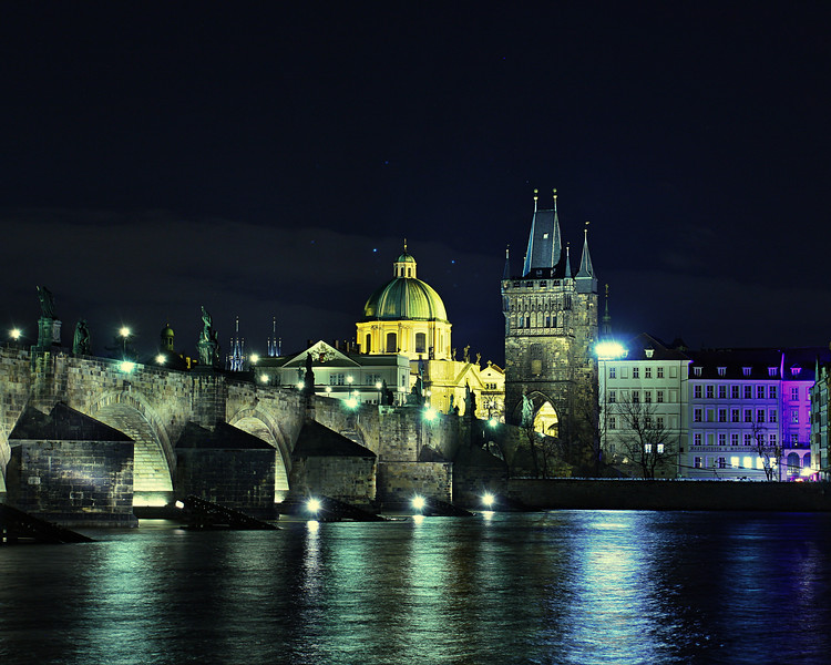 The king Charles Bridge - Prague (Feb 2013)