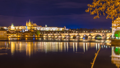 Charles Bridge over the Vltava River