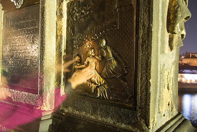 Touching the statue of St. John of Nepomuk ensures that you will return to Prague.