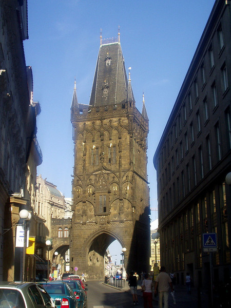 Powder Tower, one of the gates into the city.