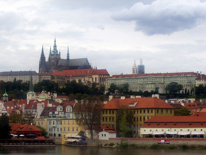 Prague castle viewed from the Vltava river