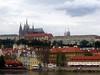 Prague castle viewed from the Vltava river