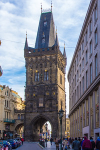 The Powder Tower, one of the city's original gates from the 11th century.