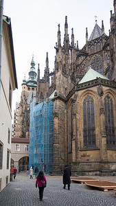 Scaffolding around St. Vitus