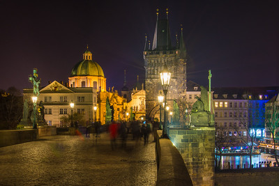 Crossing the Charles Bridge