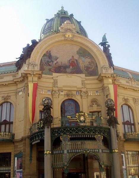 Prague City Hall, a formal royal palace.