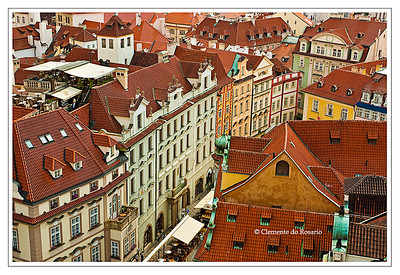 A view of the historic buildings in the Old Town Square, Prague, Czech Republic