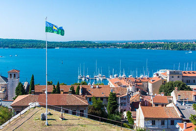 View of the marina and bay from the Kaštel