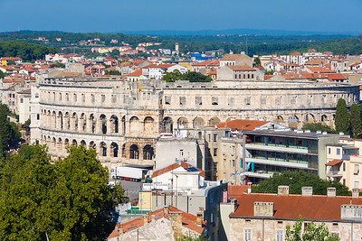 Pula Arena from the Kaštel.