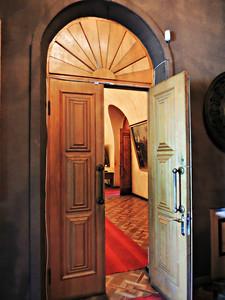 Exhibition hall doorways