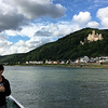 Robin, on board our ship, with Stolzenfels Castle in the background