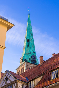 Old church steeples everywhere