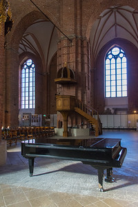 Grand piano inside St. Peter's Church