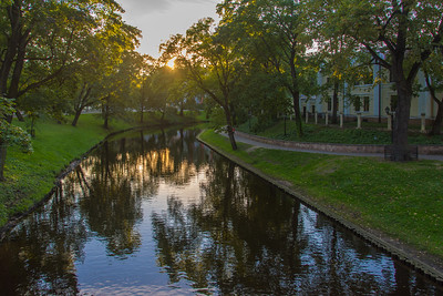 Canals in Old Town Riga