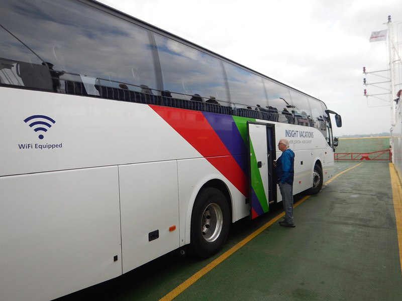 Our bus (along with sevral others, on the ferry across