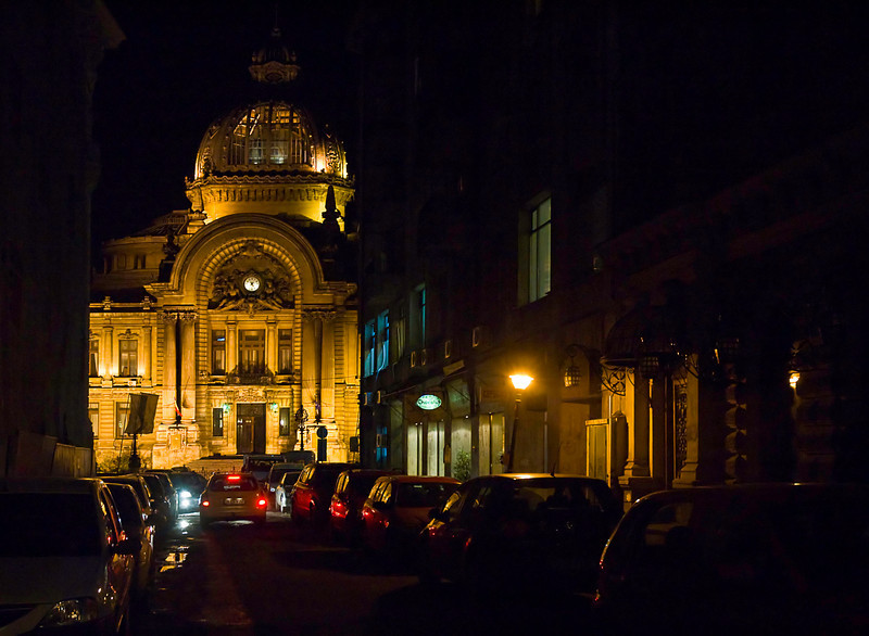 The CEC Palace from a side street