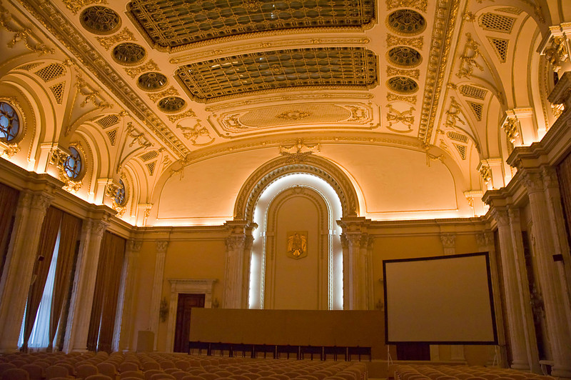 Lecture room inside the Palace of Parliament