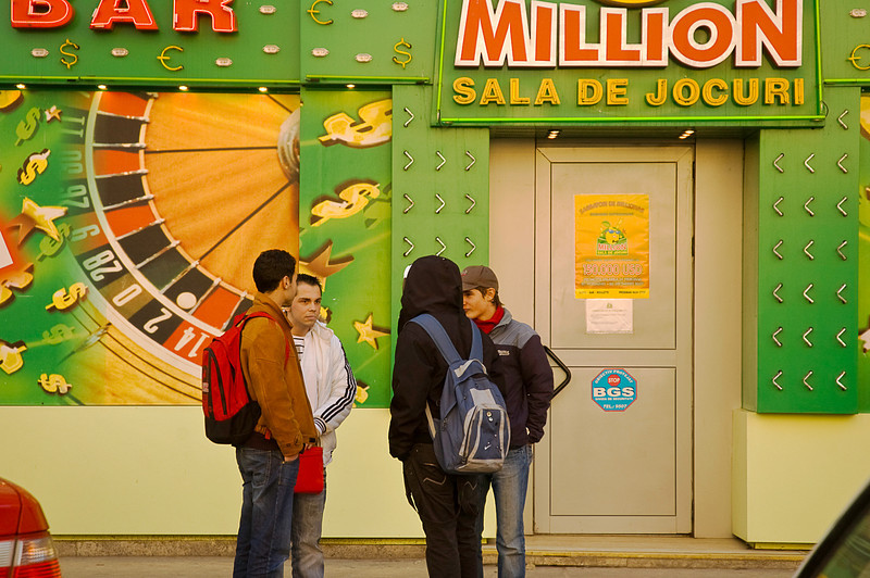 The proliferation of gambling spots in Bucharest is exceeded only by the number of cars which rivals the per capita prevalence of motorbikes in Vietnam.