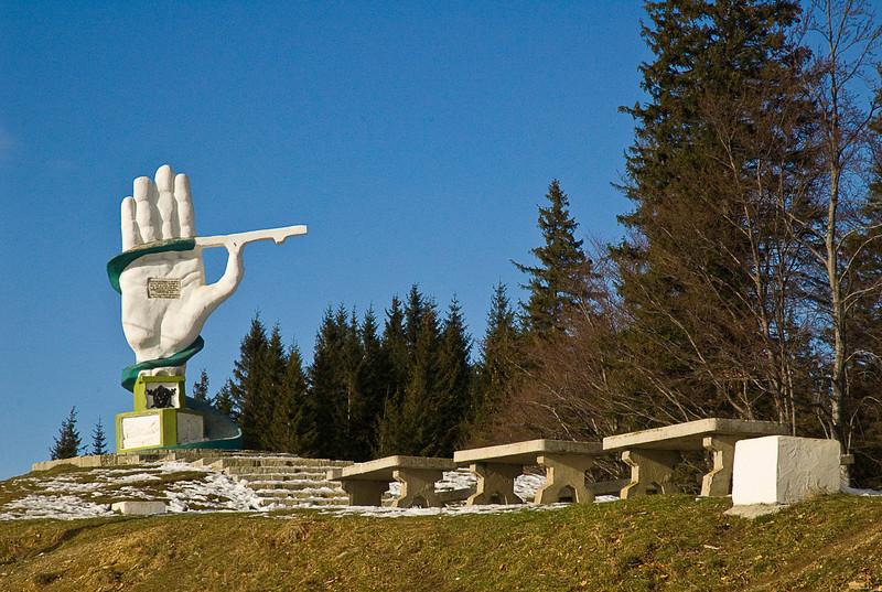 A mountain pass somewhere in Moldovia
