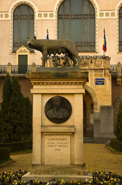 It was first documented in a Vatican document under the name Novum Forum Siculorum in the early 14th century. The Romanian pride in its Roman past is shown in this municipal statute of Romulus and Remus suckled by a she-wolf which invokes the founding of Rome itself.
