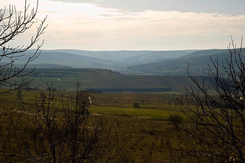 Open countryside in Transylvania