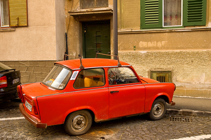 The mighty Trabant, the Volkswagen of eastern Europe, produced without significant changes for over thirty years and numbering in the millions, Trabbis required no more than three tools (hammer, pliers, screwdriver) and some sturdy wire to maintain.