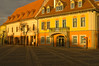 Sundown light Sibiu city center square