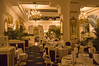 The dining room in the Imperial Roma Hotel seems very Viennese. We were the only diners.