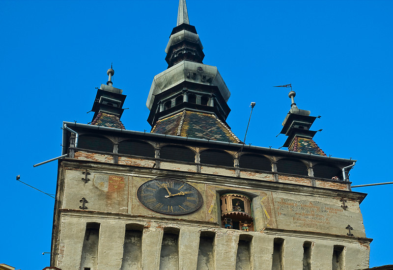 This clock tower built in 1360 is capped with four corner towers indicating that the city had the right to impose capital punishments under its own laws,