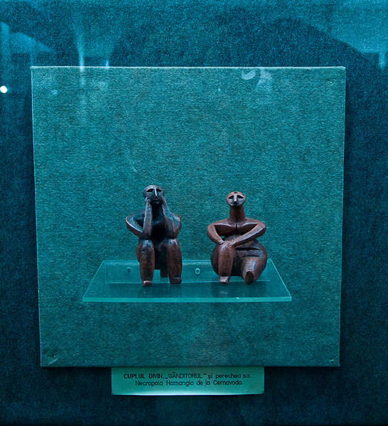 This couple (to my mind a worried man and his wife) was made about 6000 BC and found among grave goods in an early settlement on the lower banks of the Danube.