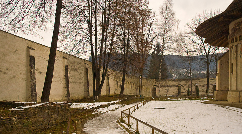 Voronet, like the other monasteries, was massively walled for defensive security.