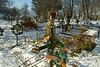 Orthodox cemetery at the Moldovita Monastery