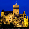 Europe - Romania - Transylvania - Braşov - Bran Castle - Castelul Bran - Dracula's Castle - Most famous Gothic fortress perched on rock - National monument and landmark of Romania