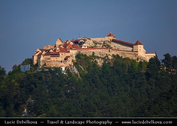 Europe - Romania - Transylvania region - Brașov County - Râșnov Fortress - Cetatea Râșnov - Râșnov Citadel - Historic monument and Romanian landmark