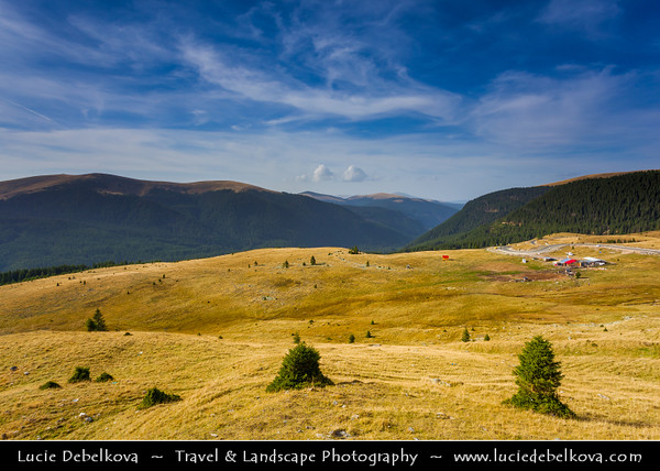 Europe - Romania - Transalpina - DN67C - Highest paved road in Romania located in Parâng Mountains with highest point at Urdele Pass with elevation 2,145m above sea level