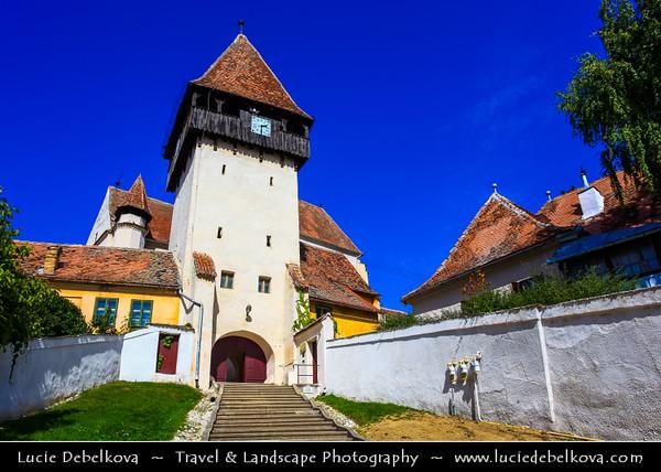 Europe - Romania - Transylvania region - Sibiu County - Bazna - Lutheran fortified church built by ethnic German Transylvanian Saxon community in 13th century