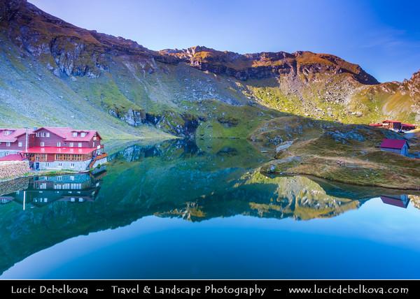 Europe - Romania - Transfagarasan Highway - Transfăgărășan - DN7C - Balea Lake - Lacul Bâlea - Bâlea Lac - Beautiful glacier lake situated at 2,034 m in Fagaras Mountains