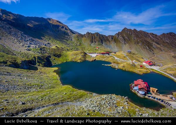 Europe - Romania - Transfagarasan Highway - Transfăgărășan - DN7C - Bâlea Lake - Lacul Bâlea - Bâlea Lac - Beautiful glacier lake situated at 2,034 m in Fagaras Mountains