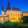 Europe - Romania - Hunedoara - Corvin Castle - Hunyadi Castle - Hunedoara Castle - Castelul Huniazilor - Castelul Corvinilor - Gothic-Renaissance castle & one of the largest castles in Europe - One of top of seven wonders of Romania