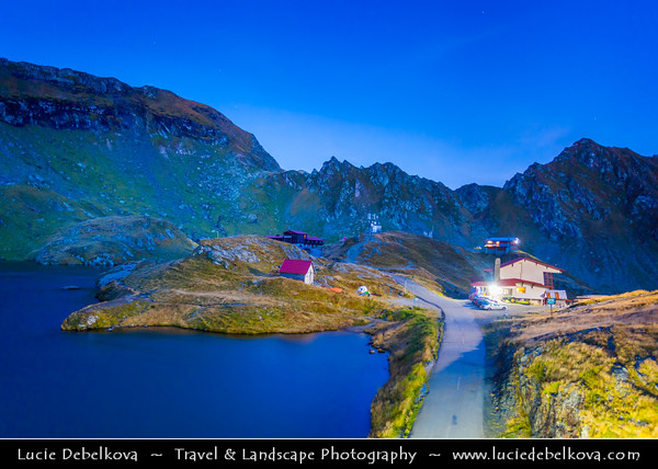 Europe - Romania - Transfagarasan Highway - Transfăgărășan - DN7C - Balea Lake - Lacul Bâlea - Bâlea Lac - Beautiful glacier lake situated at 2,034 m in Fagaras Mountains