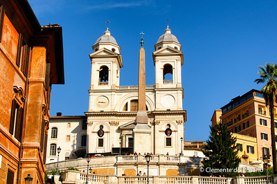 Trinita dei Monti Church,Spanish Steps, Rome, Italy