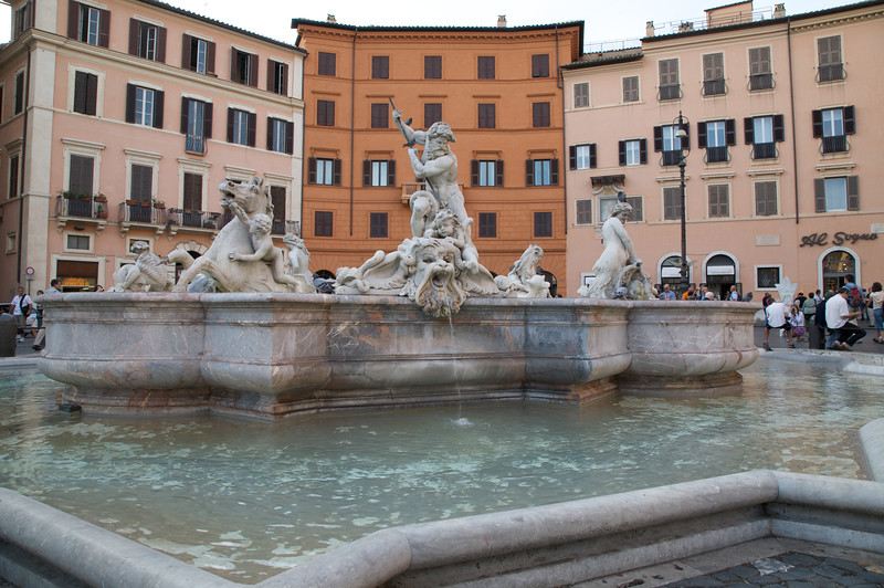 The Fountain of the Neptune, Piazza Navona, Rome