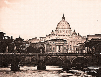 St. Peter's Basilica, River Tiber,Vatican City,Rome, Lazio, Italy