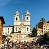 Spanish Steps leading to Trinita dei Monti Church at the top. Rome, Italy