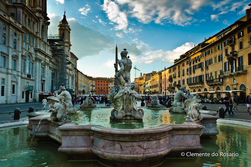 Piazza Navona is a city square in Rome,Italy. it si built on the site of  the Stadium of Domitian.